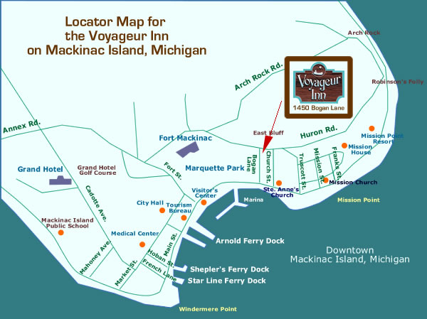 Map Of Mackinac Island Accommodations